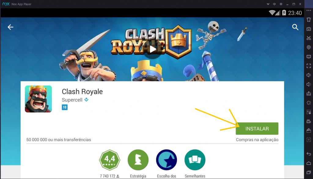 Jogar Clash Royale no Computador